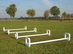 Safety Cavaletti weiß oder Alu natur, komplett mit Holzstange 3m
